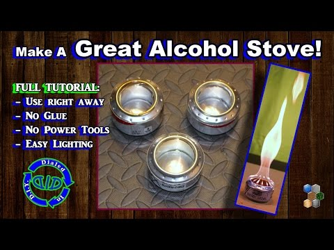 Make Soda Can Alcohol Stoves - No Glue & Instant Use & Easy Light