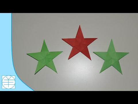 How to Make an Easy Origami Christmas Star. (Full HD)