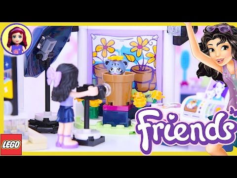 LEGO Friends Emma's Photo Studio Build Review Silly Play - Kids Toys