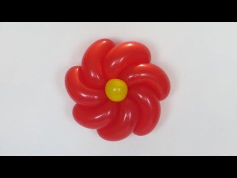 Крученая ромашка из шаров / Twisted flower balloon (English subs)