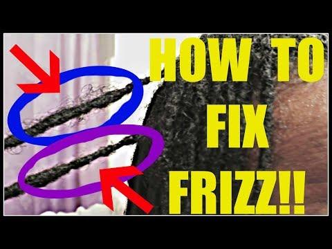 HOW TO FIX FRIZZY LOCS BY WRAPPING FRIZZ AROUND THE DREADLOCK