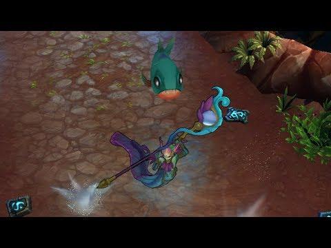 River Spirit Nami Skin Spotlight! (League of Legends / LoL Gameplay Preview)
