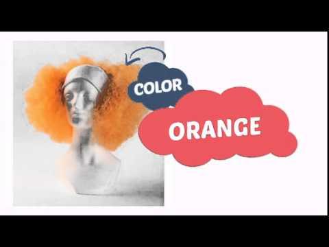 Bald Curly Clown Wig - Orange - ClownAntics.com