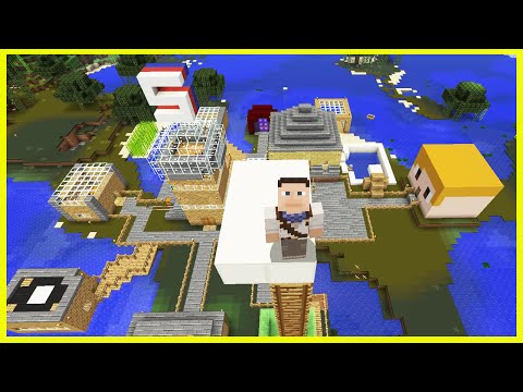 Minecraft PS4 - THE ULTIMATE DIVING BOARD!? - Survival [62]
