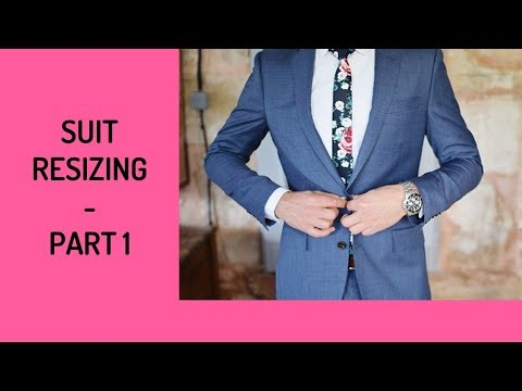 How To Slim Fit Or Let Out Suit Coat - Part 1