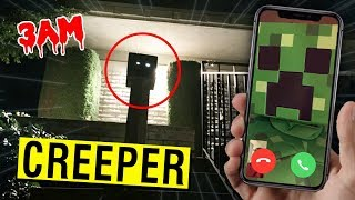 CALLING A MINECRAFT CREEPER ON FACETIME AT 3 AM!! (IT EXPLODED)