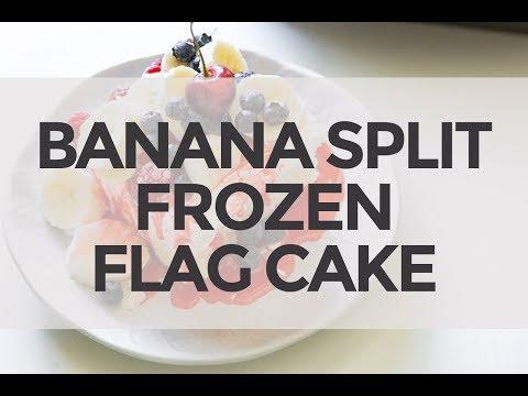 Banana Split Frozen Flag Cake