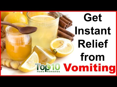 Vomiting Home Remedies - Instant Relief