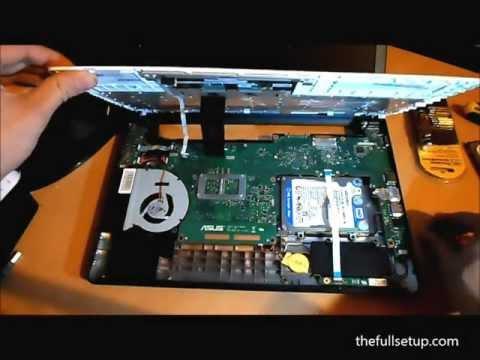 asus x401a x501a x301a hard drive upgrade ssd hd