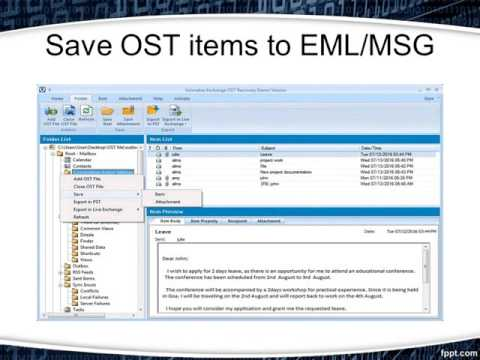 Convert Offline Storage Table (OST) to PST (Personal Storage Table) File
