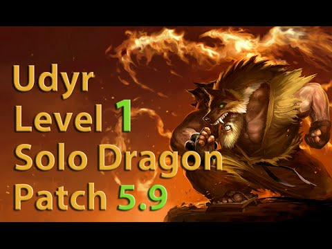 League of Legends: Udyr Level 1 Solo Dragon Season 5 (Patch 5.9)
