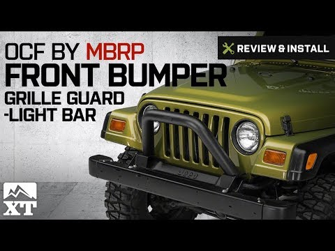 Jeep Wrangler OCF by MBRP Black Front Bumper Grille Guard/Light Bar (1997-2006 TJ) Review & Install