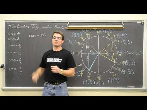 Evaluating Trig Functions W Unit Circle Degrees Radians