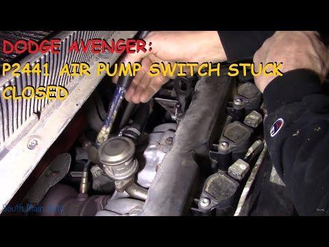 Dodge Avenger: P2441 AIR Pump Switch Valve Stuck Closed