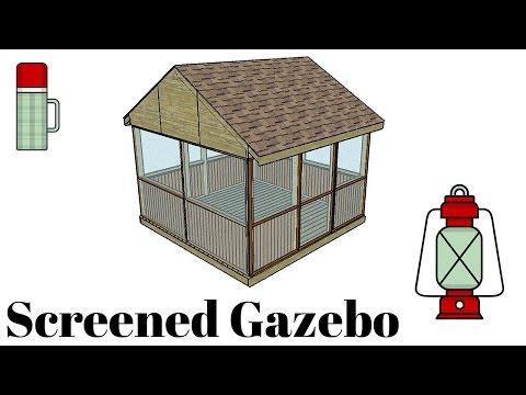 Screened Gazebo Plans