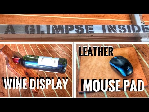 DIY Wine Display and Leather Mouse Pad