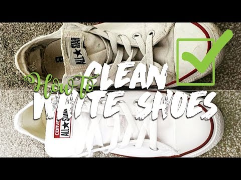 HOW TO CLEAN YOUR WHITE CONVERSE QUICKLY! (EASY)