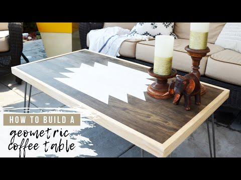DIY Wood Coffee Table | Hairpin Leg Table