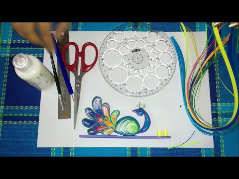 37. How to make Quilling Peacock Incense Holder