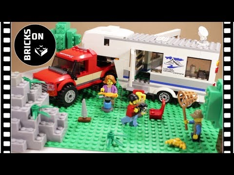 LEGO CITY 60182 Pickup and Caravan Speed Build Instruction Stop Motion Animation Mountain set 2018