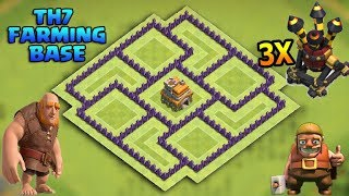 Clash Of Clans Th7 Farming Base Best Town Hall 7 Defense With 3x Air