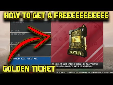 HOW TO GET A FREE GOLDEN TICKET IN MADDEN 18