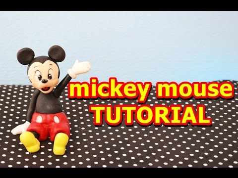 topolino pasta di zucchero tutorial - how to make mickey mouse cake topper fondant
