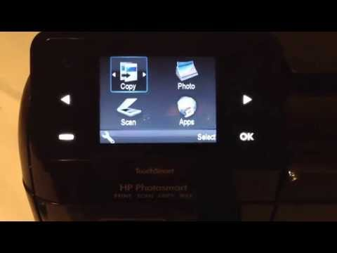 HP Photosmart hidden menus