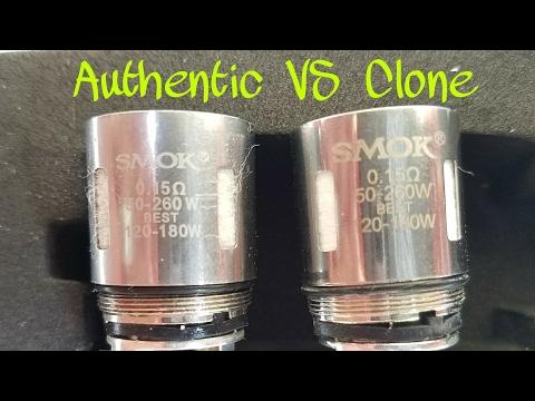 Real vs Fake: Smok TFV8 t8-v8 cloud beast coils