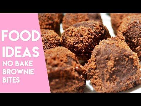 NO BAKE BROWNIE BITES | Easy Dessert Ideas
