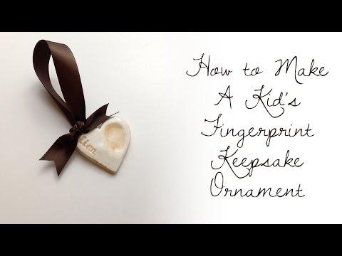 Clay Kid's Fingerprint Keepsake / Ornament