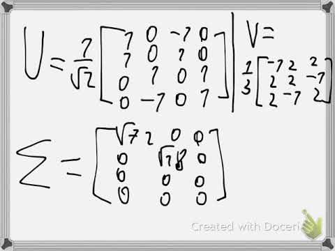 Least Square approximation and SVD Example 1