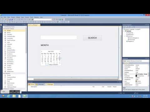 How to make calender using C#