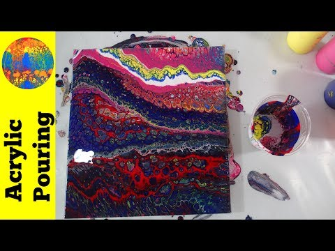 Transparent Colors Acrylic Pouring Experiment