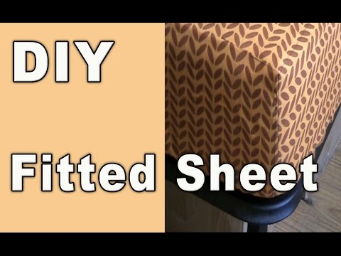 DIY - How to sew a fitted sheet (crib sheet) from a flat sheet