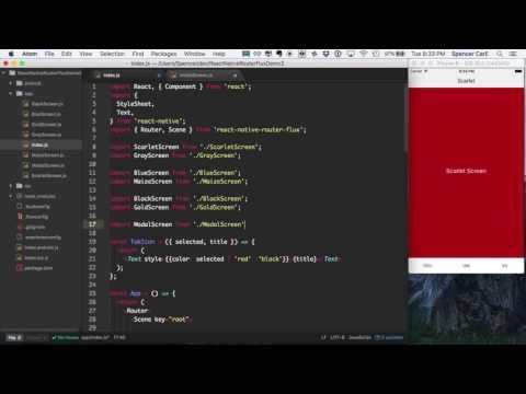 React Native Basics: Using react-native-router-flux Part 4 - Modal