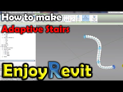 Revit Tips - Adaptive Stairs #2