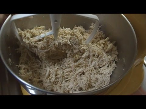 How to Poach and Shred Chicken ~ Quickly Shred Chicken ~ Noreen's Kitchen