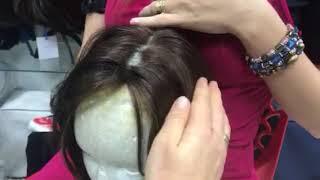 Когда мы делаем тамбуровку волос в 1 узел, и когда в 2 узла