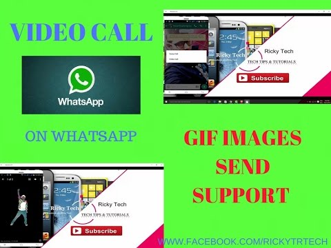 how to enable video call on whatsapp and also send gif images on whatsapp latest tricks 2016