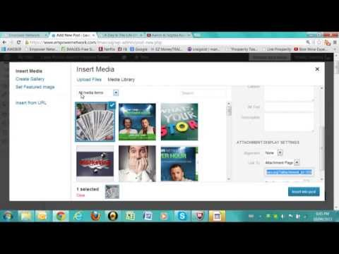 How to add Videos and pictures to your EN blog posts