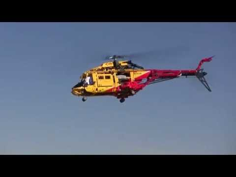 Flying Lego 9396 Helicopter RC #2 test flight
