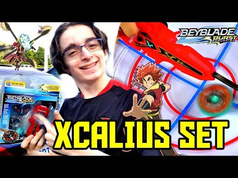 NEW SWITCHSTRIKE XCALIUS SET! HASBRO SWORD LAUNCHER NEW SURGE XCALIUS GIVEAWAY BATTLE REVIEW