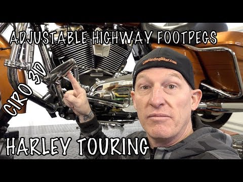 Install Ciro 3D Adjustable Highway Footpeg Mounts on Harley & Review