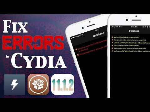 Fix Cydia Error Messages & Common Problems on iOS 11 - 11.1.2 Jailbreak (Electra)