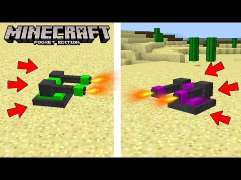 TURRETS! The BEST Way to DEFEND your House in Minecraft Pocket Edition