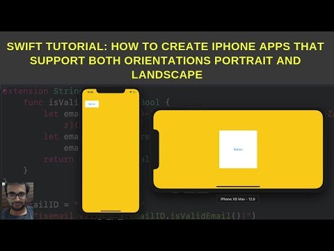 Swift Tutorials: How to create iPhone apps that support both orientations portrait and landscape