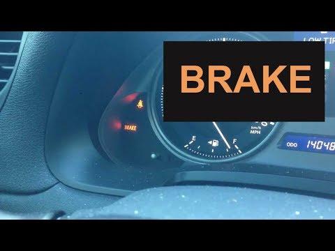 How to fix Brake Warning Light in Lexus IS250 2006-2014  - Brake light ON