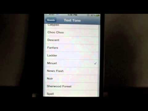 iOS 4.2 Beta 3 New SMS Ringtones For iPhone
