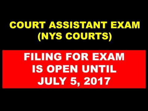 COURT ASSISTANT EXAM NEW YORK STATE COURTS